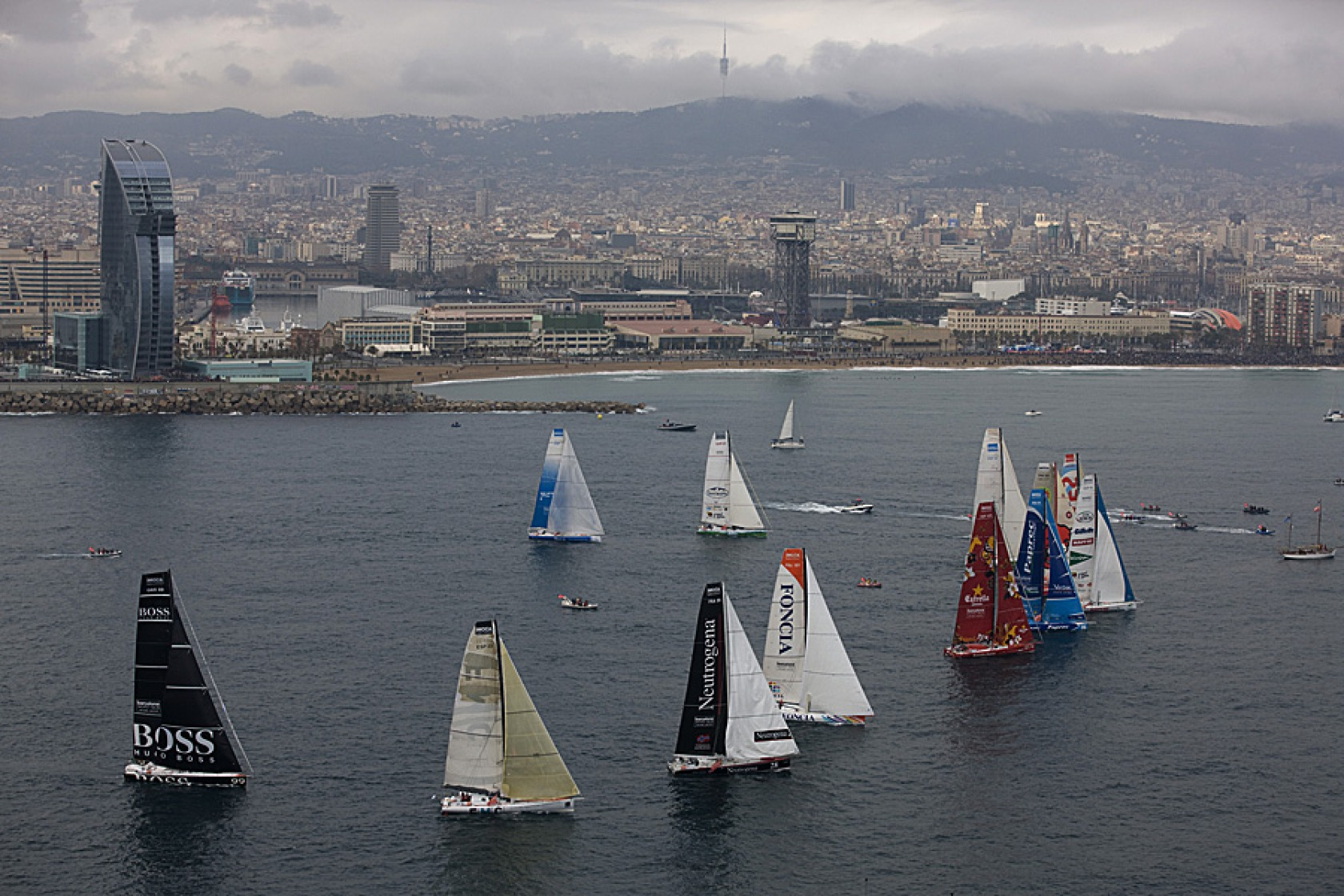 Départ de la Barcelona World Race 2010-2011