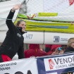Sam Davies arrives in Les Sables (VIDEO)