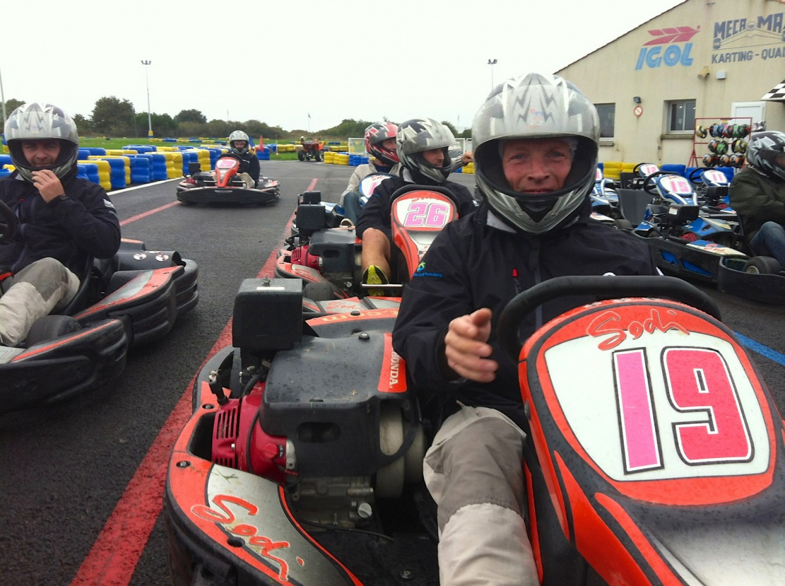 Mike Golding go-karting