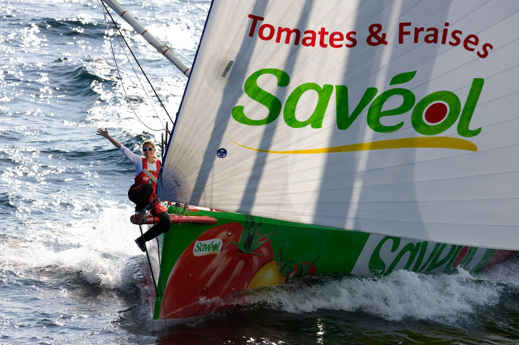 SAILING - SAVEOL - PRE VG 2012-2013 - 06/09/12 - PORT-LA-FORET (FRA) - PHOTO JEAN-MARIE LIOT / DPPI - AERIAL VIEW - SKIPPER SAMA
