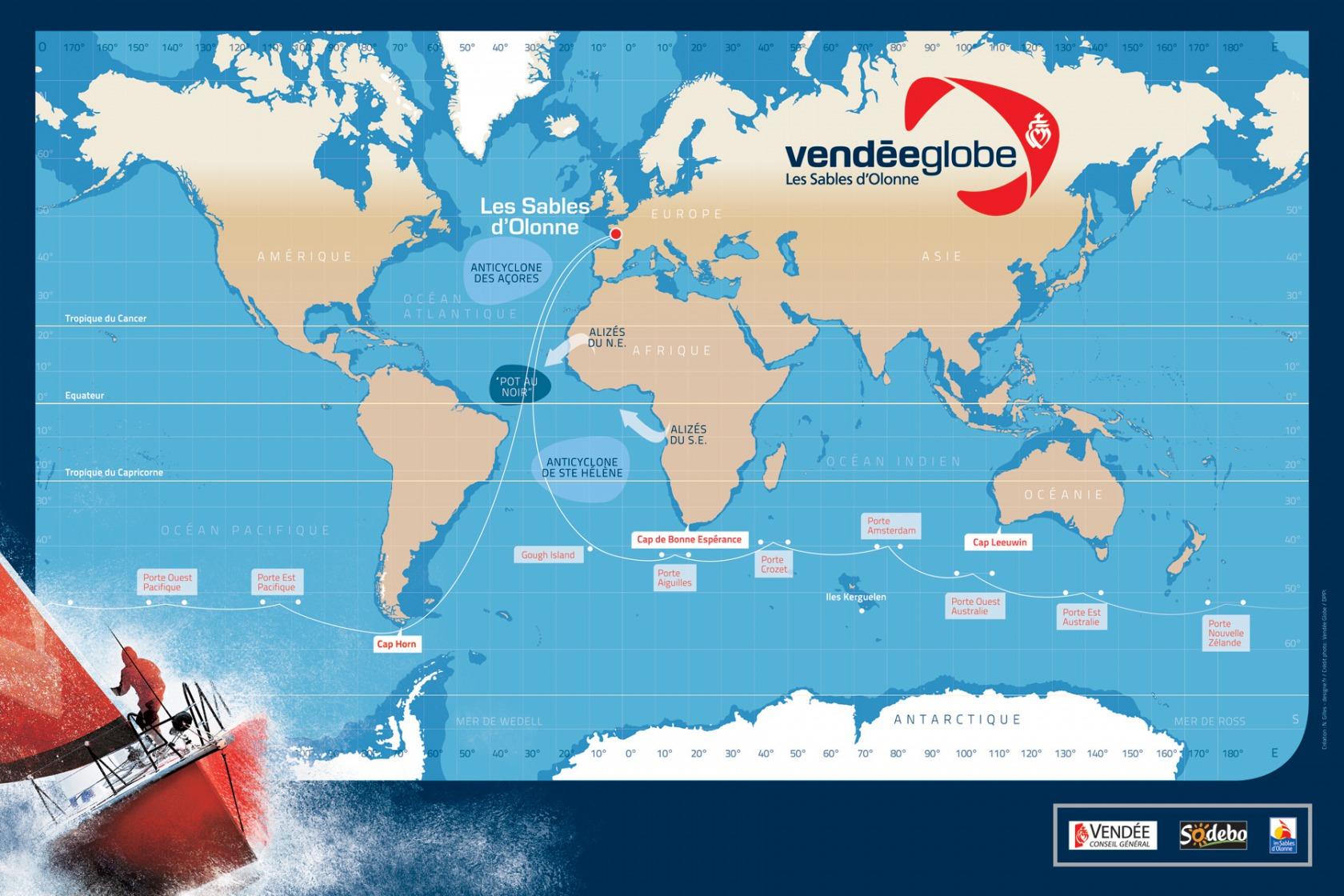 carte du vendée globe 2020 News   Le mot du jour : porte des glaces   Vendée Globe