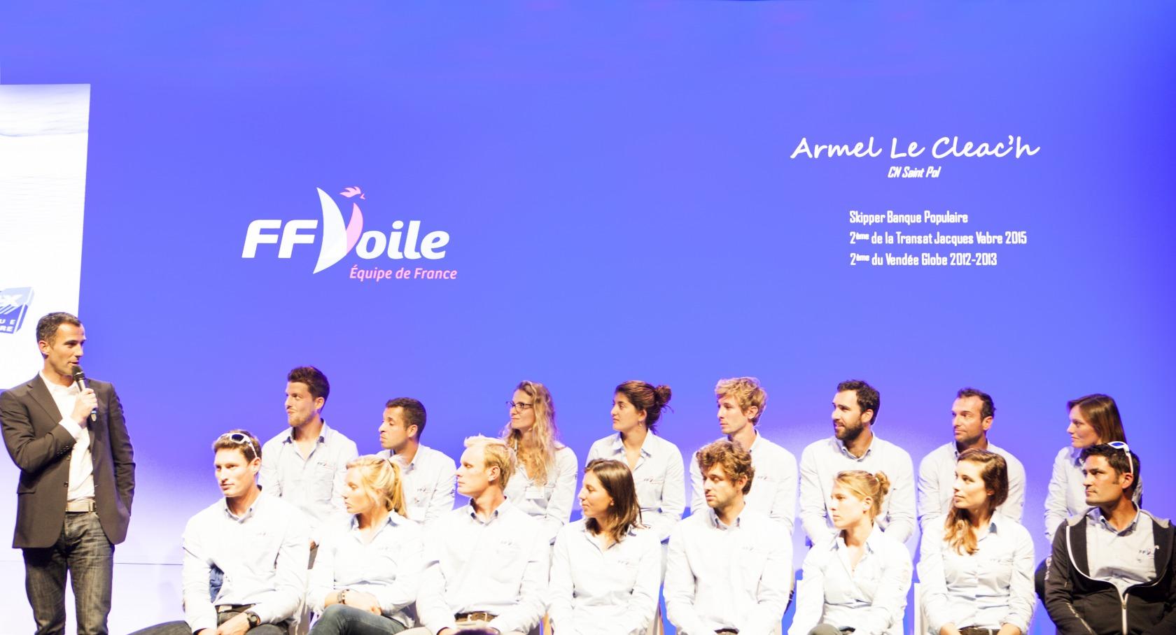 Actualit s armel le cl ac h rio pour soutenir l equipe de france de voile olympique vend e - Armel le cleac h banque populaire ...