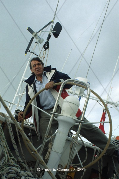 SAILING - VENDEE GLOBE CHALLENGE 1989-1990 -  NOVEMBER 1989 - PHOTO : FREDERIC CLEMENT / DPPI - BERTIE REED - SKIPPER GRINAKER