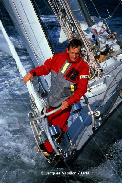 SAILING - VENDEE GLOBE CHALLENGE 1989-1990 - PHOTO : JACQUES VAPILLON / DPPI CACHAREL PEN DUICK III / SKIPPER : JEAN-FRANCOIS COSTE (FRA)