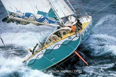 SAILING - PRESENTATION VENDEE GLOBE 2000/2001 - PHOTO : JACQUES VAPILLON / DPPI JOSH HALL (GBR) / GARTMORE