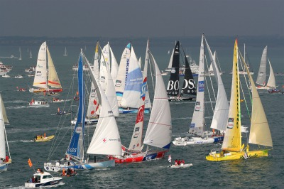 SAILING - VENDEE GLOBE 2004-2005 - LES SABLES D'OLONNE (FRA) START - 07/11/2004 - PHOTO : JACQUES VAPILLON / POOL DPPI ILLUSTRATION FLEET