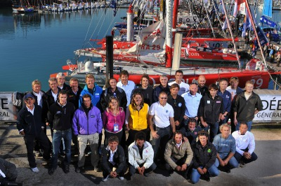 SAILING - ROUND THE WORLD RACE - VENDEE GLOBE 2008/2009 - LES SABLES D'OLONNE (FRA) - 18/10/08  PHOTO : VINCENT CURUTCHET / DPPI SKIPPERS OFFICIAL PORTRAIT
