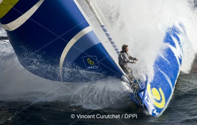 SAILING - PRE-VENDEE GLOBE 2012 - PENMARCH' (FRA) - 01/04/2012 - PHOTO VINCENT CURUTCHET / DARK FRAME / DPPI - MACIF / SKIPPER FRANCOIS GABART (FRA)