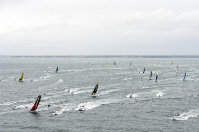 SAILING - ROUND THE WORLD RACE - VENDEE GLOBE 2012/2013 - START - LES SABLES D'OLONNE (FRA) - 10/11/2012  - PHOTO VINCENT CURUTCHET / DPPI - FLEET