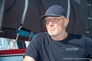 Interview of Nandor Fa (HUN), skipper Spirit of Hungary, on pontoons of the Vendée Globe in Les Sables d'Olonne, France, on October 28th, 2016 - Photo Olivier Blanchet / DPPI / Vendee Globe