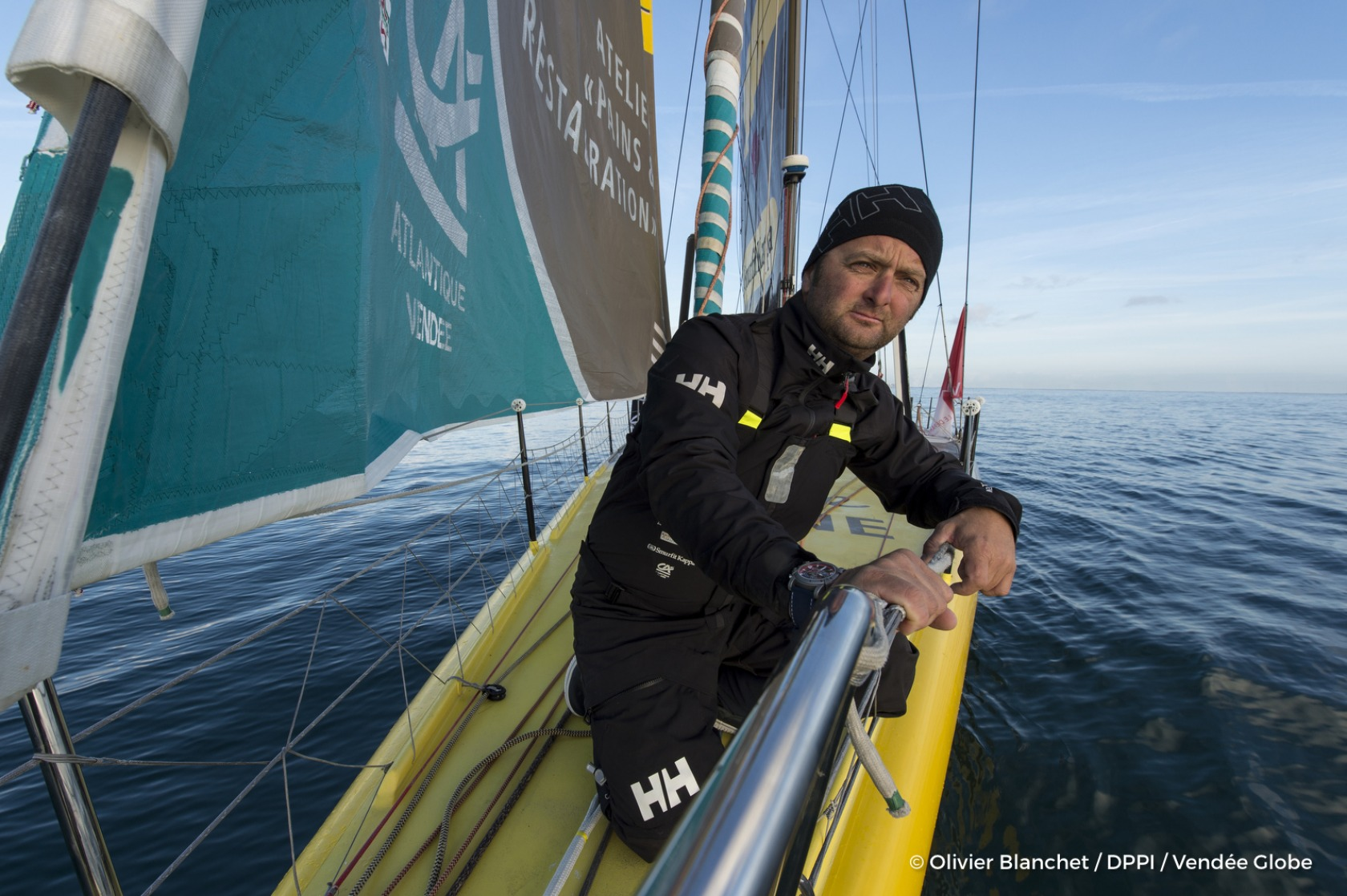 Onboard image bank of the IMOCA boat