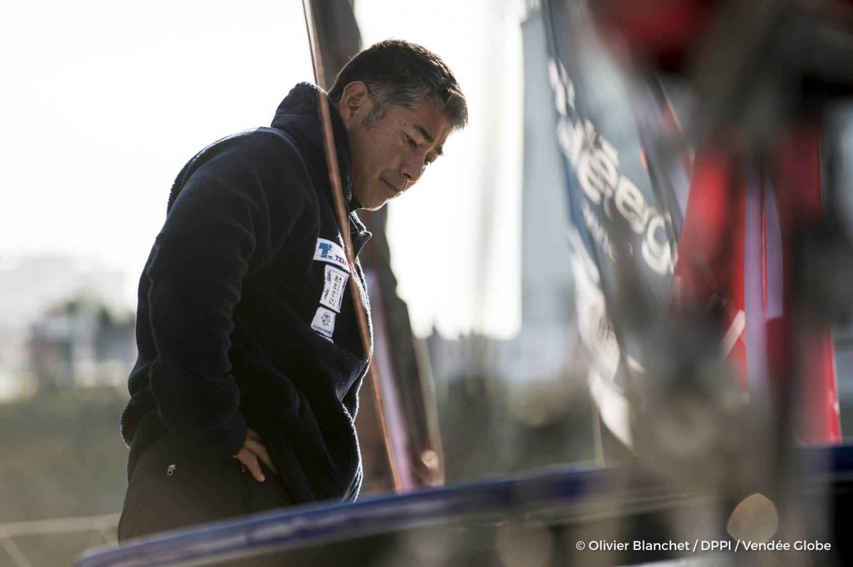 Kojiro Shiraishi (JAP), skipper Spirit of Yukoh, on pontoons of the Vendee Globe, in Les Sables d'Olonne, France, on November 2nd, 2016 - Photo Olivier Blanchet / DPPI / Vendée Globe Kojiro Shiraishi (JAP), skipper Spirit of Yukoh, sur les pontons du Ve