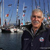 Portrait of Rich Wilson (USA), skipper Great American IV, on pontoons of the Vendee Globe, in Les Sables d'Olonne, France, on November 3rd, 2016 - Photo Mark Lloyd / DPPI / Vendee GlobePortrait de Rich Wilson (USA), skipper Great American IV, sur les po