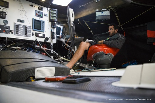 Louis Burton (FRA), skipper Bureau Vallee, training solo prior to the Vendee Globe on September 13th, 2016 - Photo Stephane Maillard / Bureau Vallee  Louis Burton (FRA), skipper Bureau Vallee, en entrainement en solitaire avant le depart du Vendee Globe