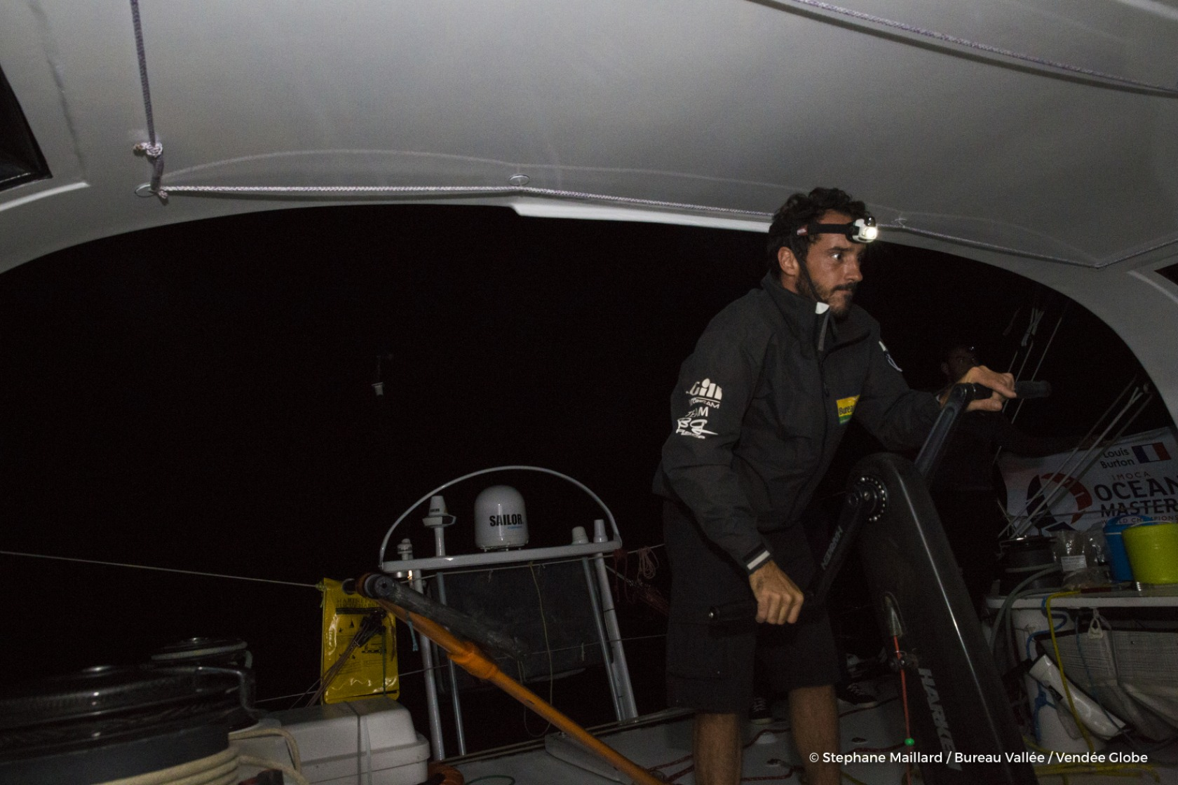 Louis Burton (FRA), skipper Bureau Vallee, training solo prior to the Vendee Globe on September 13th, 2016 - Photo Stephane Maillard / Bureau Vallee  