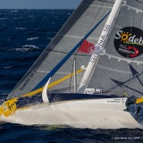 Sebastien Josse (FRA), skipper Edmond de Rothschild, 6th 2016, training solo for the Vendee Globe, off Basse Jaune on October  6, 2016 - Photo Jean-Marie Liot / DPPI  / Gitana SA / Vendée GlobeSebastien Josse (FRA), skipper Edmond de Rothschild, lors d'