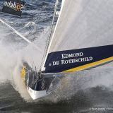 Sebastien Josse (FRA), skipper Edmond de Rothschild, training solo for the Vendée Globe, off Groix, on April 7th, 2016 - Photo Yvan Zedda / Gitana SA / Vendée GlobeSebastien Josse (FRA), skipper Edmond de Rothschild, lors d'un entrainement solo pour le
