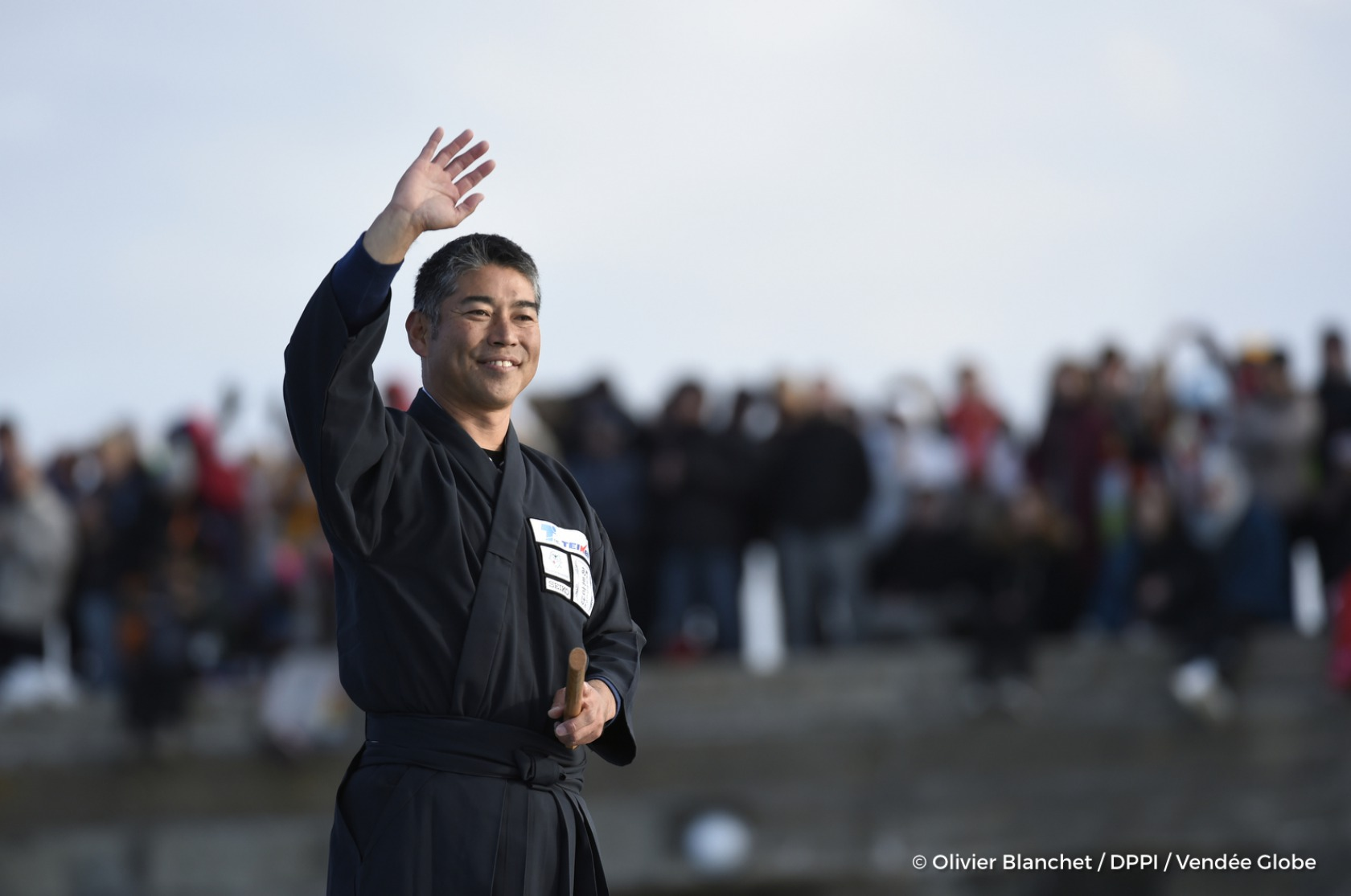 Channel ambiance with Kojiro Shiraishi (JAP), skipper Spirit of Yukoh, start of the Vendee Globe, in Les Sables d'Olonne, France, on November 6th, 2016 - Photo Olivier Blanchet / DPPI / Vendee Globe