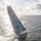SAFRAN, skipper Morgan Lagraviere (FRA) at start of the Vendee Globe, in Les Sables d'Olonne, France, on November 6th, 2016 - Photo Vincent Curutchet / DPPI / Vendée GlobeSAFRAN, skipper Morgan Lagraviere (FRA) au départ du Vendée Globe, aux Sables d'Ol