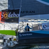 SAFRAN, skipper Morgan Lagraviere (FRA), Aerial start of the Vendee Globe, in Les Sables d'Olonne, France, on November 6th, 2016 - Photo Jean-Marie Liot / DPPI / Vendée GlobeSAFRAN, skipper Morgan Lagraviere (FRA), Vue aérienne du départ du Vendée Globe