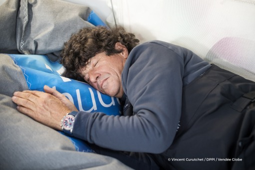 Onboard images of Jean Le Cam (FRA), skipper Finistere Mer Vent, before his Vendee Globe in Les Sables d'Olonne, France, on November 1st, 2016 - Photo Vincent Curutchet / DPPI / Vendee GlobeImages embarquées de Jean Le Cam (FRA), skipper Finistere Mer V
