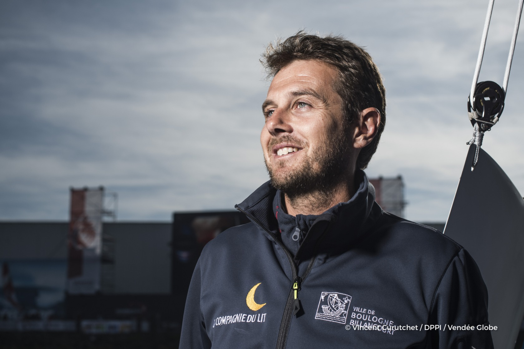 Stephane Le Diraison (FRA), skipper Compagnie du Lit - Boulogne Billancourt, portraited during prestart of the Vendee Globe, in Les Sables d'Olonne, France, on November 1st, 2016 - Photo Vincent Curutchet / DPPI / Vendee Globe