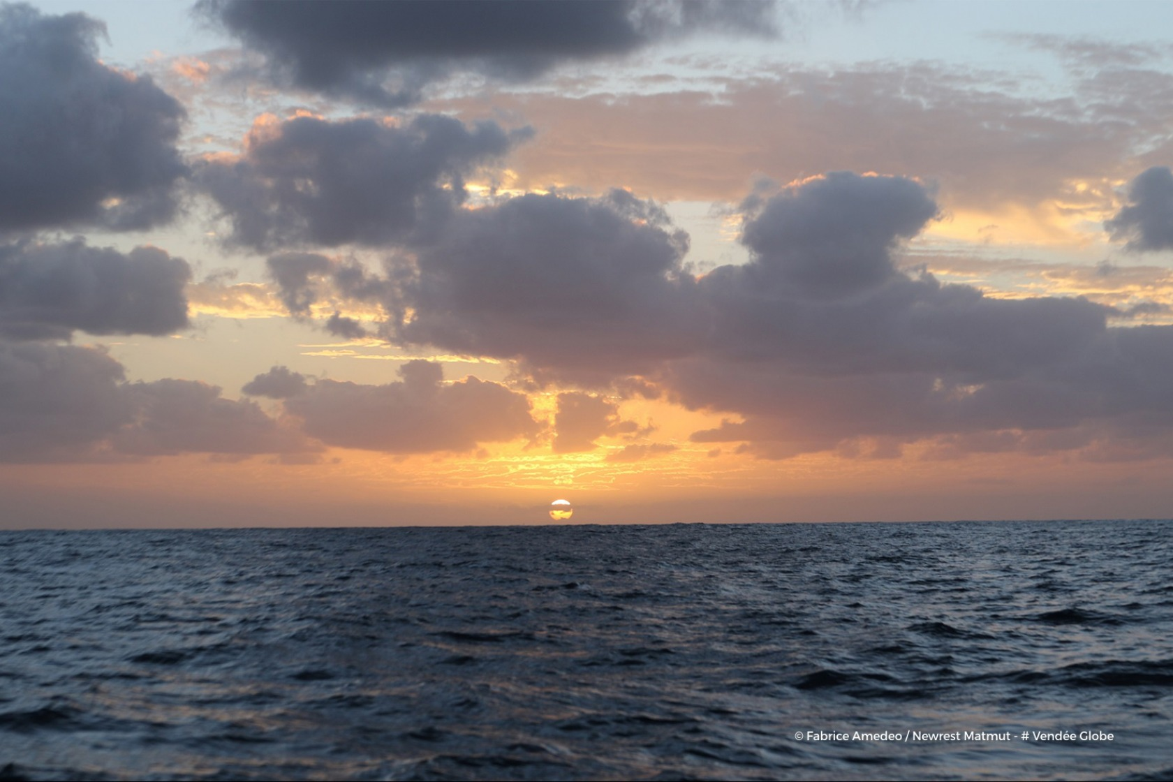 Photo sent from the boat Newrest - Matmut, on November 14th, 2016 - Photo Fabrice Amedeo