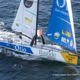 Bastide Otio, skipper Kito de Pavant (FRA) at start of the Vendee Globe, in Les Sables d'Olonne, France, on November 6th, 2016 - Photo Jean-Marie Liot / DPPI / Vendee GlobeBastide Otio, skipper Kito de Pavant (FRA) au départ du Vendée Globe, aux Sables