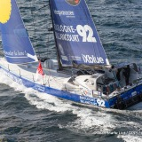 Compagnie du Lit - Boulogne Billancourt, skipper Stephane Le Diraison (FRA) at start of the Vendee Globe, in Les Sables d'Olonne, France, on November 6th, 2016 - Photo Jean-Marie Liot / DPPI / Vendee GlobeCompagnie du Lit - Boulogne Billancourt, skipper