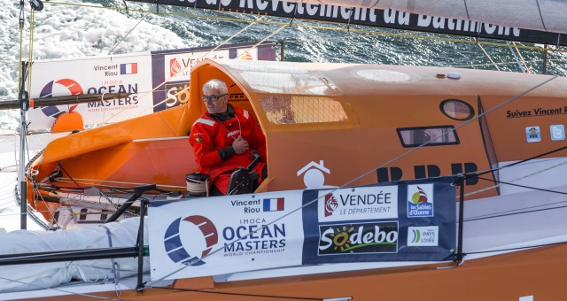 Vincent Riou  (FRA), skipper PRB, at start of the Vendee Globe, in Les Sables d'Olonne, France, on November 6th, 2016 - Photo Jean-Marie Liot / DPPI / Vendee GlobeVincent Riou  (FRA), skipper PRB, au départ du Vendée Globe, aux Sables d'Olonne le 6 Nove