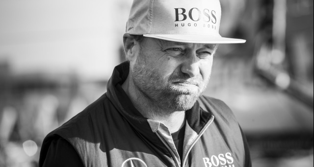 Portrait Alex Thomson (GBR), skipper Hugo Boss, on pontoons of the Vendee Globe, in Les Sables d'Olonne, France, on November 1st, 2016 - Photo Mark Lloyd / DPPI / Vendee GlobePortait de Alex Thomson (GBR), skipper Hugo Boss, sur les pontons des Sables d