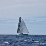 Photo sent from the boat Spirit of Yukoh, on December 2nd, 2016 - Photo Kojiro ShiraishiPhoto envoyée depuis le bateau Spirit of Yukoh le 2  Décembre 2016 - Photo Kojiro ShiraishiForesight Natural Energy, skipper Conrad Colman (NZL) at sight