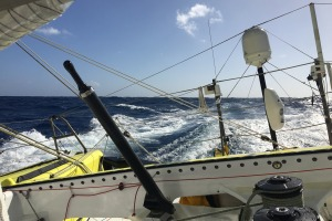 Photo sent from the boat No Way Back, on December 4th, 2016 - Photo Pieter HeeremaPhoto envoyée depuis le bateau No Way Back le 4 Décembre 2016 - Photo Pieter HeeremaHappy Sailing