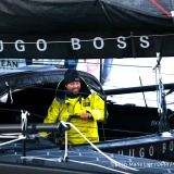 Finish arrival of Alex Thomson (GBR), skipper Hugo Boss, 2nd place of the sailing circumnavigation solo race Vendee Globe, in Les Sables d'Olonne, France, on January 20th, 2017 - Photo Jean-Marie Liot / DPPI / Vendee GlobeArrivée de Alex Thomson (GBR),