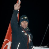 Finish arrival of Jeremie Beyou (FRA), skipper Maitre Coq, 3rd of the sailing circumnavigation solo race Vendee Globe, in Les Sables d'Olonne, France, on January 23rd, 2017 - Photo Jean Marie Liot / DPPI / Vendee GlobeArrivée de Jeremie Beyou (FRA), ski