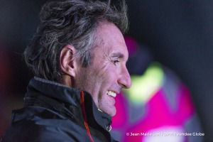 Finish arrival of Jeremie Beyou (FRA), skipper Maitre Coq, 3rd of the sailing circumnavigation solo race Vendee Globe, in Les Sables d'Olonne, France, on January 23rd, 2017 - Photo Jean Marie Liot / DPPI / Vendee GlobeArrivée de Jeremie Beyou (FRA), skipper Maitre Coq, 3ème du Vendee Globe, aux Sables d'Olonne, France, le 23 Janvier 2017 - Photo Jean Marie Liot / DPPI / Vendee Globe