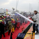 Finish arrival of Jean-Pierre Dick (FRA), skipper St-Michel Virbac, 4th of the sailing circumnavigation solo race Vendee Globe, in Les Sables d'Olonne, France, on January 25th, 2017 - Photo Vincent Curutchet / DPPI / Vendee GlobeArrivée de Jean-Pierre Dick (FRA), skipper St-Michel Virbac, 4ème du Vendee Globe, aux Sables d'Olonne, France, le 25 Janvier 2017 - Photo Vincent Curutchet / DPPI / Ven