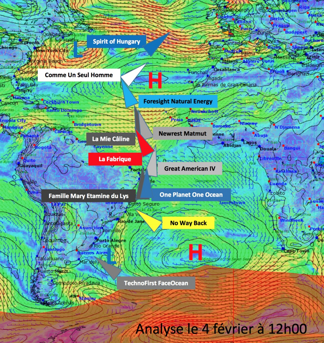 Weather Analysis February 4 th 2017 - Atlantic