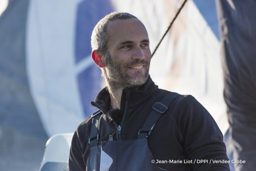 Finish arrival of Fabrice Amedeo (FRA), skipper Newrest Matmut, 11th of the sailing circumnavigation solo race Vendee Globe, in Les Sables d'Olonne, France, on February 18th, 2017 - Photo Jean-Marie Liot / DPPI / Vendee GlobeArrivée de Fabrice Amedeo (FRA), skipper Newrest Matmut, 11ème du Vendee Globe, aux Sables d'Olonne, France, le 18 Février 2017 - Photo Jean-Marie Liot / DPPI / Vendee Globe