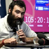 Press conference during Finish arrival of Alan Roura (SUI), skipper La Fabrique, 12th of the sailing circumnavigation solo race Vendee Globe, in Les Sables d'Olonne, France, on February 20th, 2017 - Photo Olivier Blanchet / DPPI / Vendee Globe
