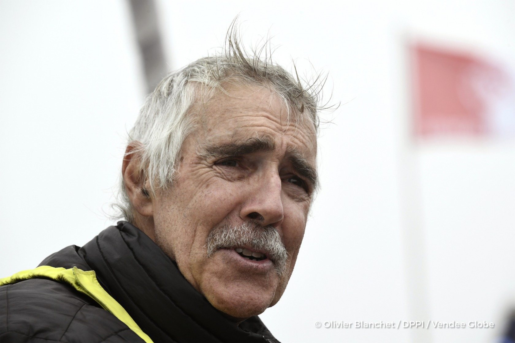 Finish arrival of Rich Wilson (USA), skipper Great American IV, 13th of the sailing circumnavigation solo race Vendee Globe, in Les Sables d'Olonne, France, on February 21st, 2017 - Photo Olivier Blanchet / DPPI / Vendee GlobeArrivée de Rich Wilson (USA), skipper Great American IV, 13ème du Vendee Globe, aux Sables d'Olonne, France, le 21 Février 2017 - Photo Olivier Blanchet / DPPI / Vendee Glo