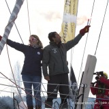 Ambiance channel during Finish arrival of Romain Attanasio (FRA), skipper Famille Mary - Etamine du Lys,15th of the sailing circumnavigation solo race Vendee Globe, in Les Sables d'Olonne, France, on February 24th, 2017 - Photo Olivier Blanchet / DPPI / Vendee GlobeArrivée de Romain Attanasio (FRA), skipper Famille Mary - Etamine du Lys, 15ème du Vendee Globe, aux Sables d'Olonne, France, le 24