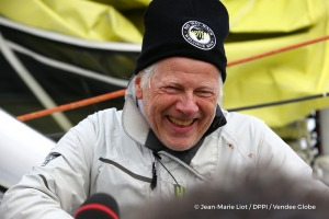 Media at pontoon during Finish arrival of Pieter Heerema (NL), skipper No Way Back,17th of the sailing circumnavigation solo race Vendee Globe, in Les Sables d'Olonne, France, on March 2nd, 2017 - Photo Jean-Marie Liot / DPPI / Vendee GlobeArrivée de Pieter Heerema (NL), skipper No Way Back, 17ème du Vendee Globe, aux Sables d'Olonne, France, le 2 Mars 2017 - Photo Jean-Marie Liot / DPPI / Vende