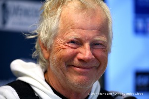 Press conference during Finish arrival of Pieter Heerema (NL), skipper No Way Back,17th of the sailing circumnavigation solo race Vendee Globe, in Les Sables d'Olonne, France, on March 2nd, 2017 - Photo Jean-Marie Liot / DPPI / Vendee Globe