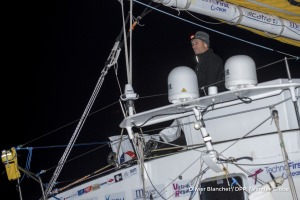 Finish arrival of Sebastien Destremau (FRA), skipper Technofirst Face Ocean,18th of the sailing circumnavigation solo race Vendee Globe, in Les Sables d'Olonne, France, on March 11th, 2017 - Photo Olivier Blanchet / DPPI / Vendee GlobeArrivée de Sebastien Destremau (FRA), skipper Technofirst Face Ocean, 18ème du Vendee Globe, aux Sables d'Olonne, France, le 11 Mars 2017 - Photo Olivier Blanchet