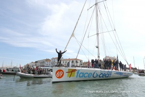 Ambiance channel during Finish arrival of Sebastien Destremau (FRA), skipper Technofirst Face Ocean,18th of the sailing circumnavigation solo race Vendee Globe, in Les Sables d'Olonne, France, on March 11th, 2017 - Photo Jean-Marie Liot / DPPI / Vendee GlobeArrivée de Sebastien Destremau (FRA), skipper Technofirst Face Ocean, 18ème du Vendee Globe, aux Sables d'Olonne, France, le 11 Mars 2017 -