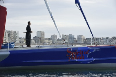 Kojiro Shiraishi (JAP), skipper Spirit of Yukoh, Les Sables d'Olonne, France, on November 6th, 2016 - Photo Olivier Blanchet / DPPI / Vendee Globe