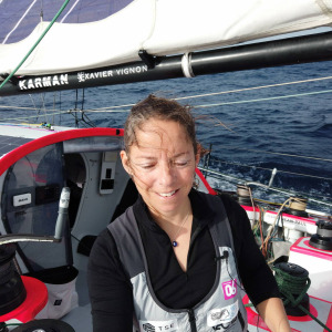 Alexia Barrier from aboard TSE - 4myPlanet during the 3rd day of the  Vendee Globe