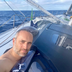 Onboard Fabrice Amedeo's boat