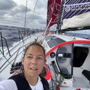Alexia Barrier from aboard TSE - 4myPlanet during the 9th day of the  Vendee Globe